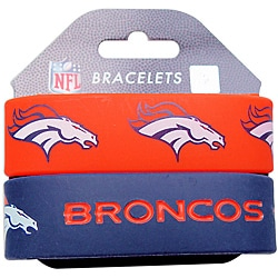 Denver Broncos Wrist Band (Set of 2) NFL