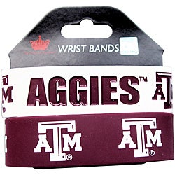 Texas A&M Rubber Wrist Band (Set of 2) NCAA