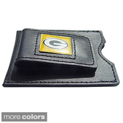 NFL Leather Money Clip Card Holder