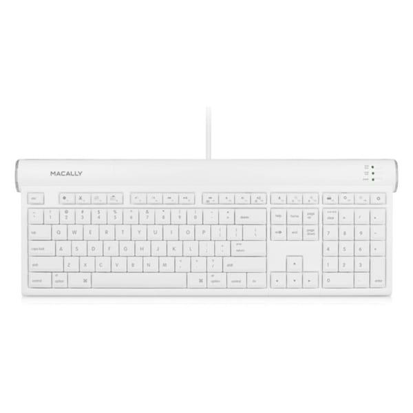 Macally USB 2.0 Slim Keyboard with Shortcut Function Keys