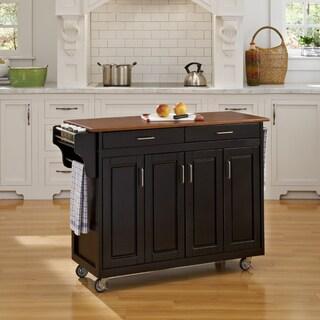 Black Finish with Oak Top Create-a-Cart