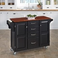 Black Finish with Cherry Top Create-a-Cart