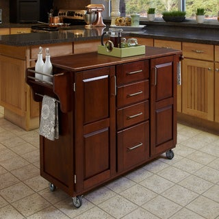 Home Styles Create-a-Cart Cherry Finish Cart