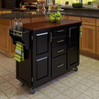 Create-a-Cart Black Finish Cart