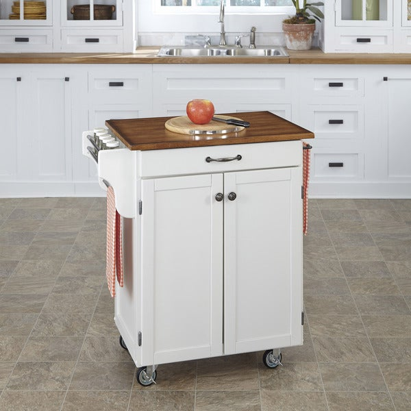 Home Styles White Finish Cuisine Cart
