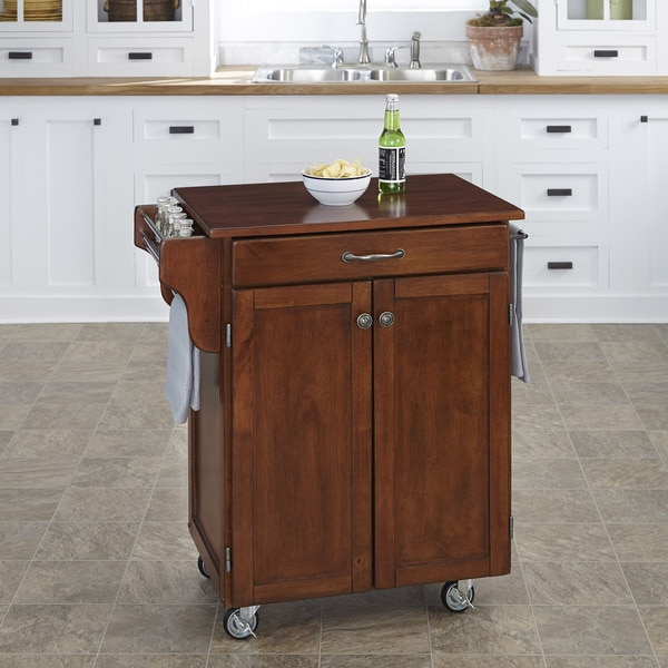 Home Styles Cuisine Cart Cherry Finish with Cherry Top