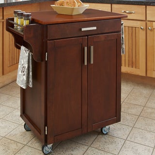 Cherry Finish Oak Top Cuisine Cart