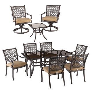 Agio Bramhill Tan and Black 10-Piece Outdoor Dining Set