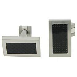 Stainless Steel Cufflink with Black IP