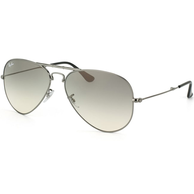 Ray-Ban Unisex 'RB3479 Foldable Aviator 004/32' Gunmetal Metal Sunglasses
