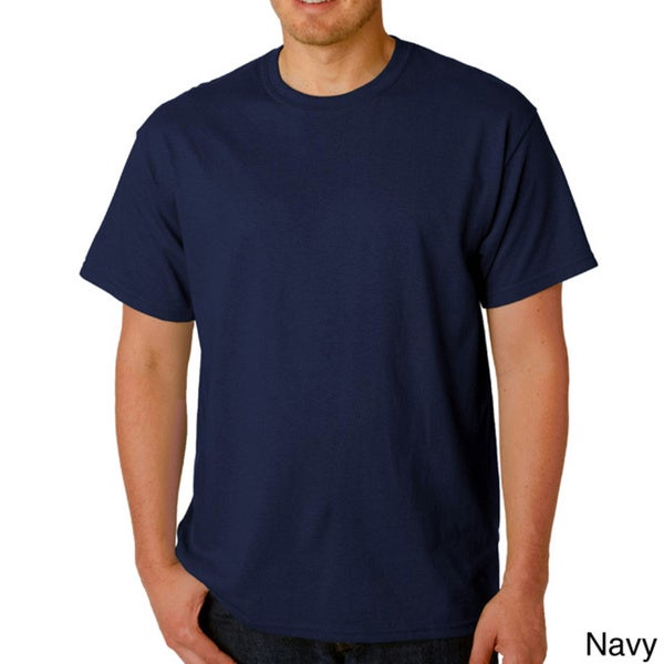 Men's 100 Percent Cotton Crew-Neck T-Shirt 2XL in Navy (As Is Item)