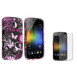 Purple Rubber Case/ Screen Protector for Samsung� Galaxy Nexus i9250