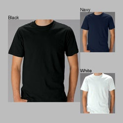 Men's Solid-Colored 100-Percent Cotton Short-Sleeve Crew-Neck Pullover T-Shirt (Two Pack)