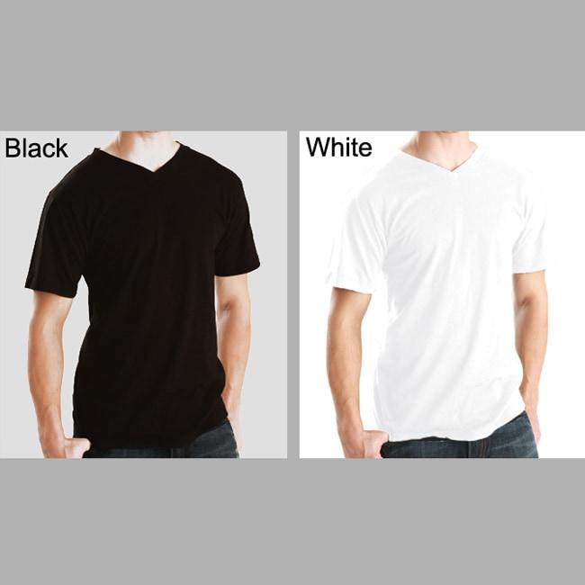 Men's Soft Cotton V-Neck T-shirt (3 Pack)