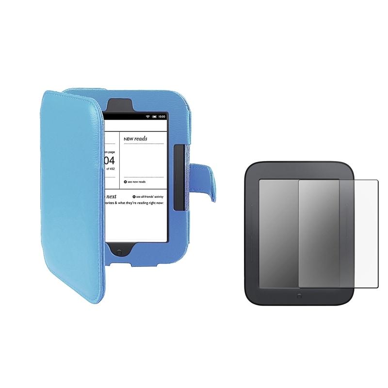 INSTEN Blue Phone Case Cover/ Anti-glare Screen Protector for Barnes & Noble Nook 2