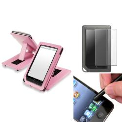 INSTEN Pink Phone Case Cover/ Screen Protector/ Stylus for Barnes & Noble Nook Color