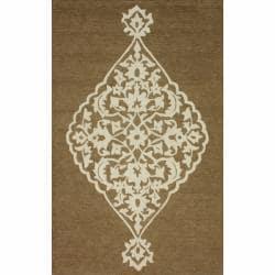 nuLOOM Handmade Shabby Chick Natural Wool/ Jute Rug (7'6 x 9'6)