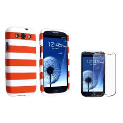 Orange Stripe Case/ Screen Protector for Samsung Galaxy S III/ S3