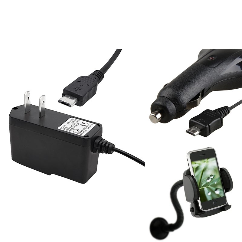 INSTEN Travel Charger/ Car Charger/ Windshield Mounted Phone Holder