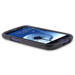 Carbon Fiber Case/ Protector/ Car Mount for Samsung Galaxy S III/ S3