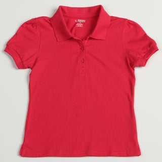 French Toast Girl's Red School Uniform Polos Size 10 (Set of 2)