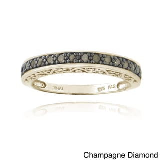 DB Designs Sterling Silver 1/6ct TDW Round Diamond Eternity Ring