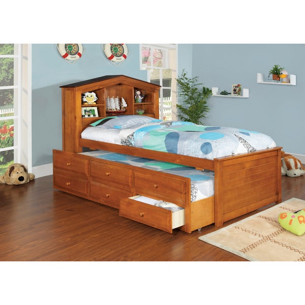 Furniture of America Timmy Captain Twin Size Bed