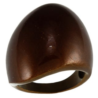 City by City City Style Chocolate Brown-plated Oblong Fashion Ring