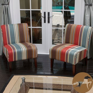 Christopher Knight Home Sarape Multicolored Slipper Chairs (Set of 2)