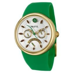 Fuitz Women's 'Happy Hour Appletini' Stainless Steel Watch
