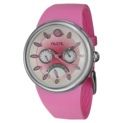 Fruitz Women's 'Happy Hour Strawberry Daiquiri' Stainless Steel Watch