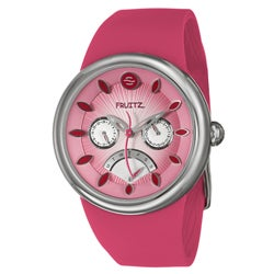 Fruitz Women's Stainless Steel 'Happy Hour Cosmopolitan' Watch