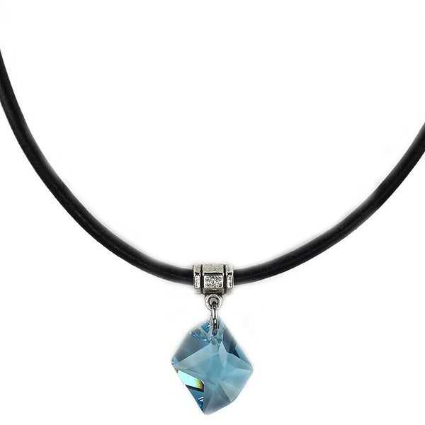 Jewelry by Dawn Aquamarine Cosmic Greek Leather Necklace