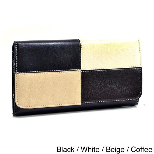 Dasein Multicolor Trifold Checkbook Wallet