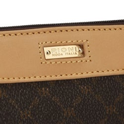 Rioni Signature Brown Convertible Wristlet Bag