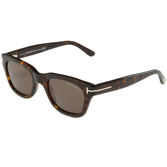 Tom Ford 'TF237 TF0237 Snowdon 52N' Havana Sunglasses