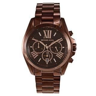 Michael Kors Women's 'Bradshaw' Stainless Steel Brown Watch