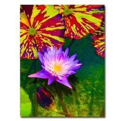 Amy Vangsgard 'Waterlily' Canvas Art