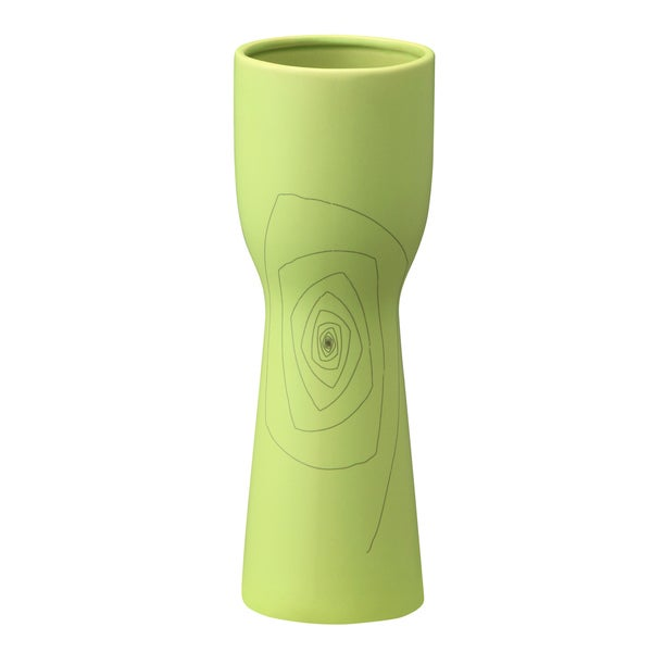 Small Green 12.2-inch Brittany Chalice Vase