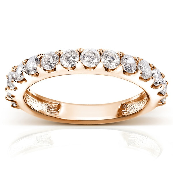 Annello 14k Gold 1ct TDW Diamond Wedding Band Rose, White or Yellow Gold (G-H, I1-I2)