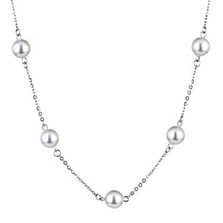 Stainless Steel Faux-Pearl Necklace
