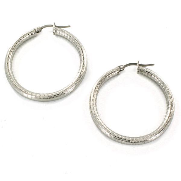 ELYA Stainless Steel Hoop Earrings