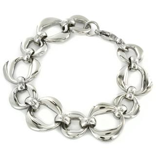 West Coast Jewelry Stainless Steel High Polished Oval Link Bracelet