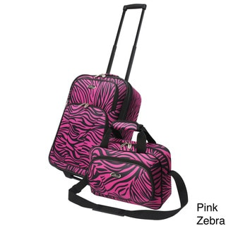 U.S. Traveler 2-piece Exotic Zebra Print  Carry-on Luggage Set