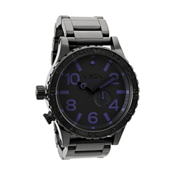 Nixon Men's 51-30 Black and Purple Tide Watch