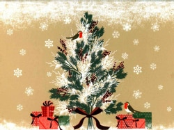 Birds, Berries, and Bows Deluxe Holiday Cards (Cards)
