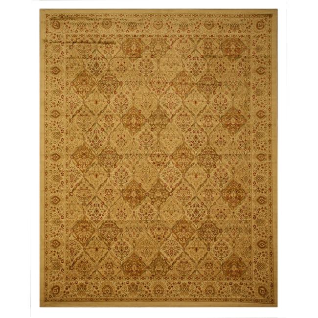 EORC Ivory Panel Kashmir Rug (3'11 x 5'3)