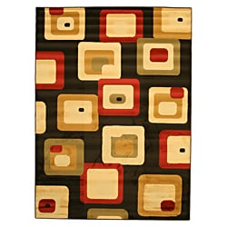 Yalda Black Abstract Rug (7'10 x 9'10)