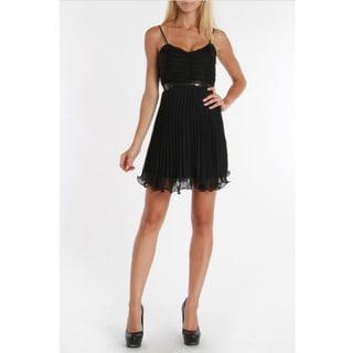 24/7 Frenzy Juniors Black Accordion Pleat Dress