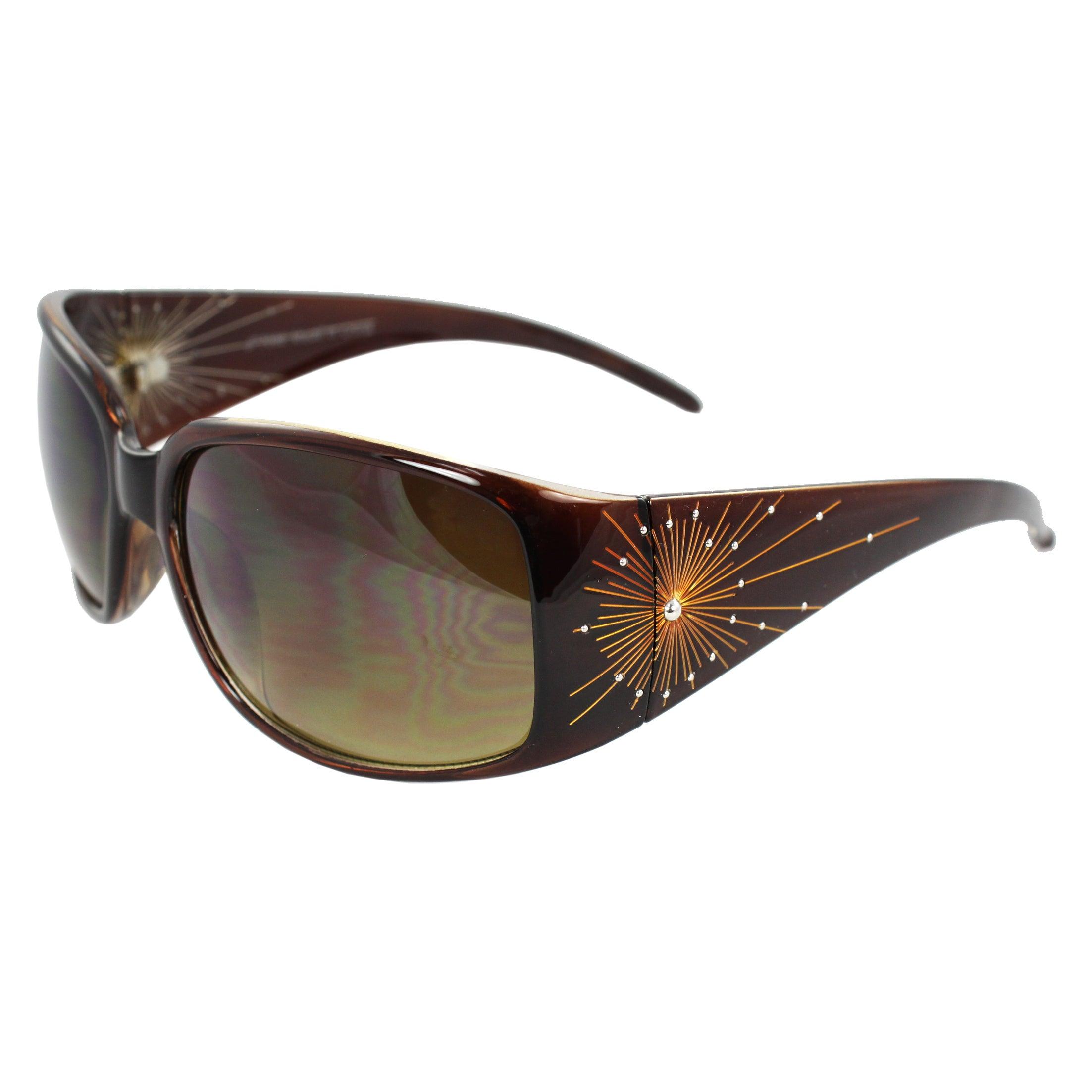 Women's Brown Square Sunglasses